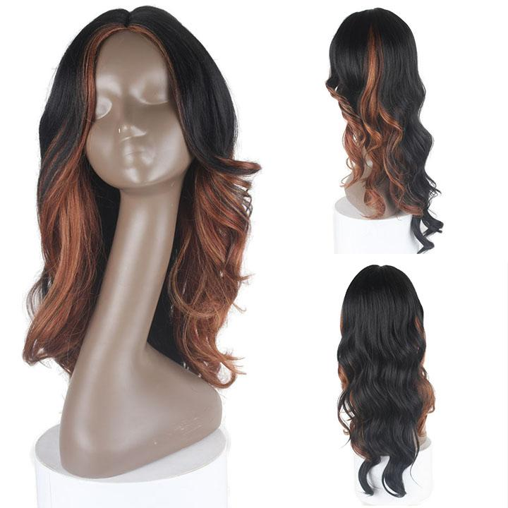 HTF invisible skin+Lace HL27 body wave wig 25〃