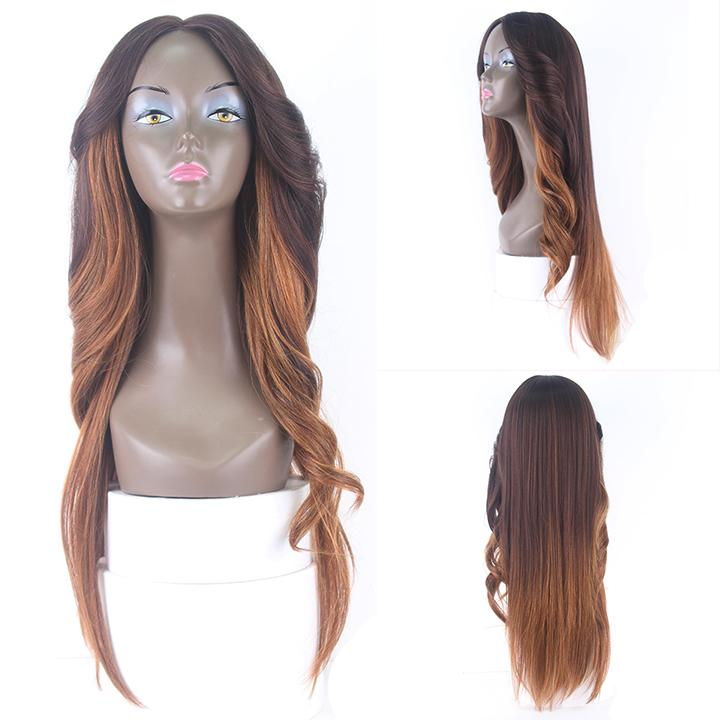 HTF invisible skin+Lace DXR1433 body wave wig 26〃