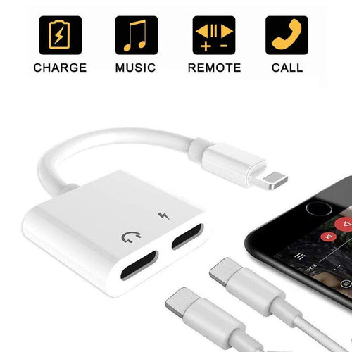 2 in1 Lightning Audio +Charger Adapter For iPhone Lightning Earphone Adapter