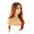 HTF cross lace(wide1.1cm+lace front1.5cm) GT33 AMBER body wave wig 17""