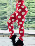 High Waist Push Up Polka Dot Printed Leggings