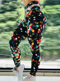 High Waist Push Up Multicolor Printed Leggings