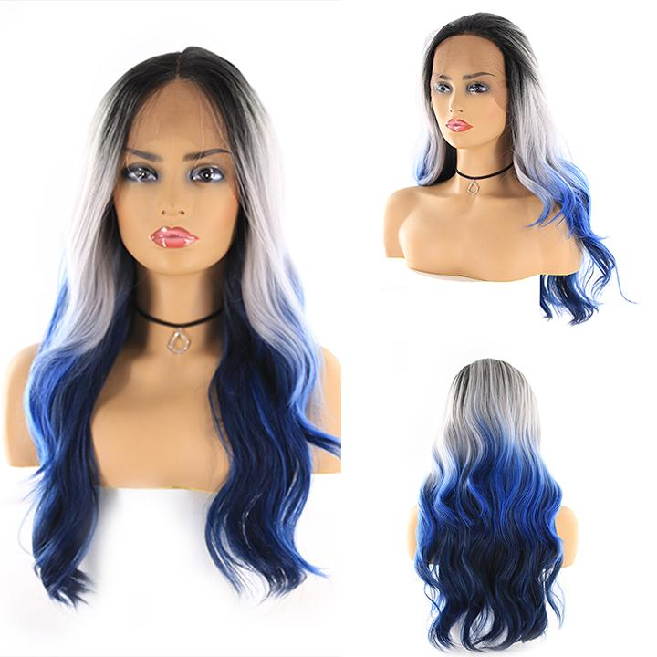 "HTF 4""x13""lace front R3440 body wave wig 20""-23"""