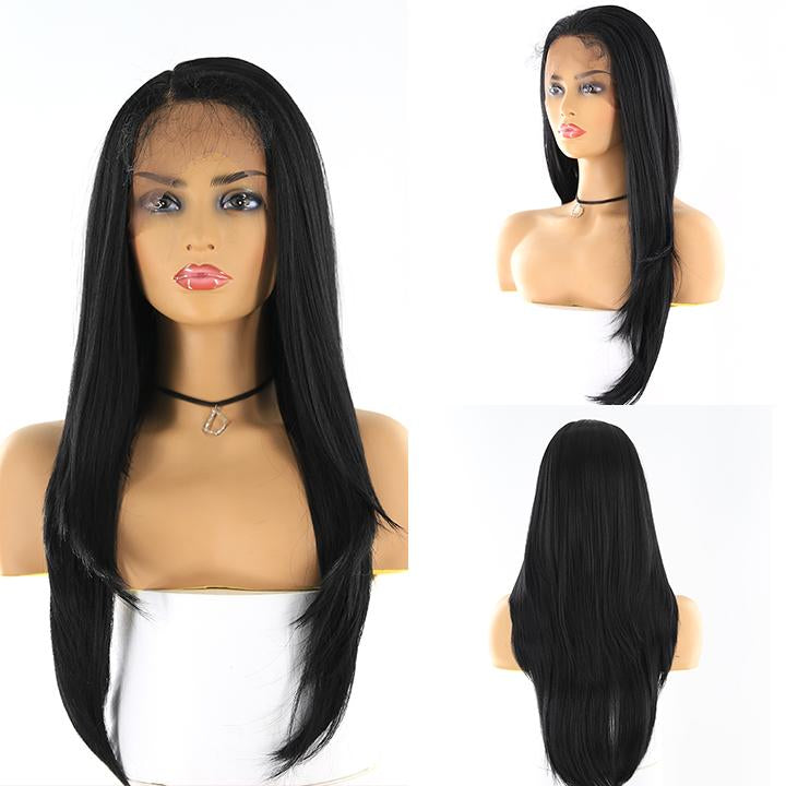 "HTF 4""x13""lace front 1# straight wig 24""-25"""
