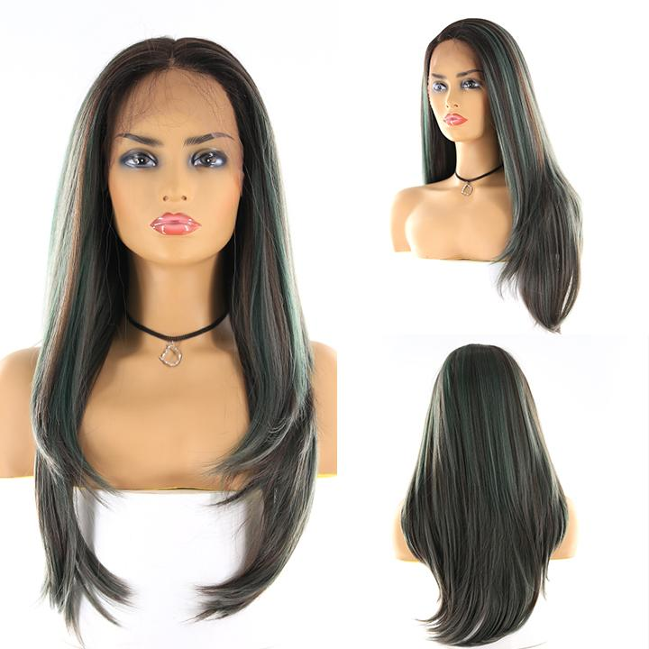 "HTF 4""x13""lace front R3438 straight wig 24""-25"""