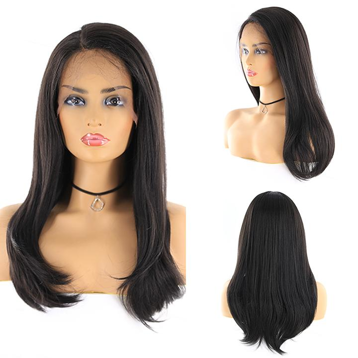 "HTF 4""x13""lace front 1B straight wig 23""-25"""