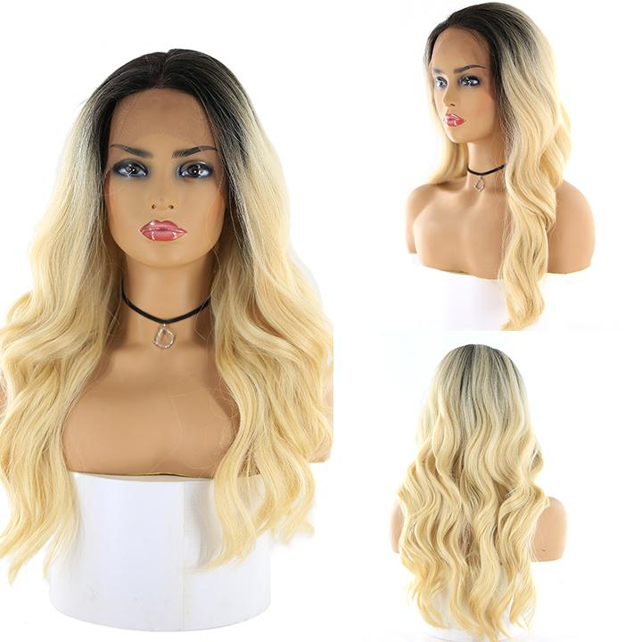 "HTF 4""x13""lace front DR613 body wave wig 20""-23"""