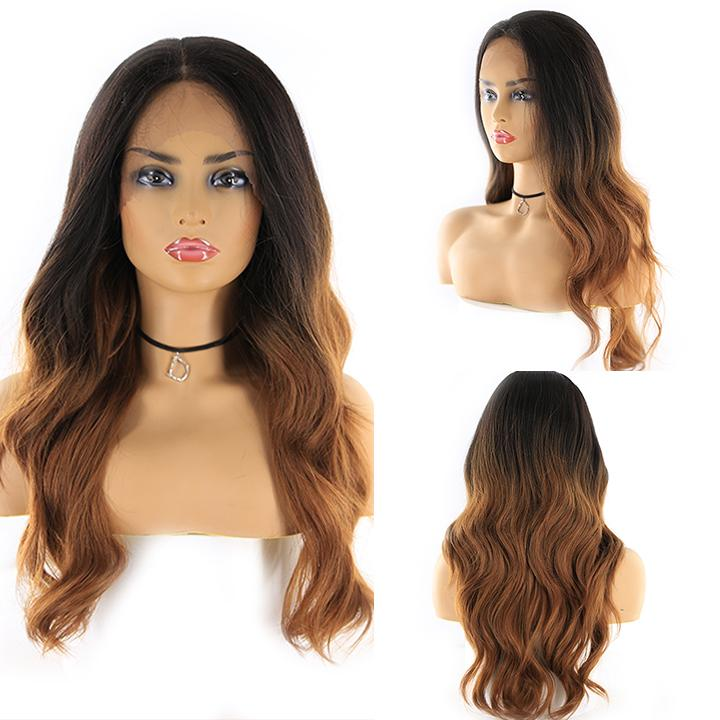 "HTF 4""x13""lace front RT30M body wave wig 20""-23"""
