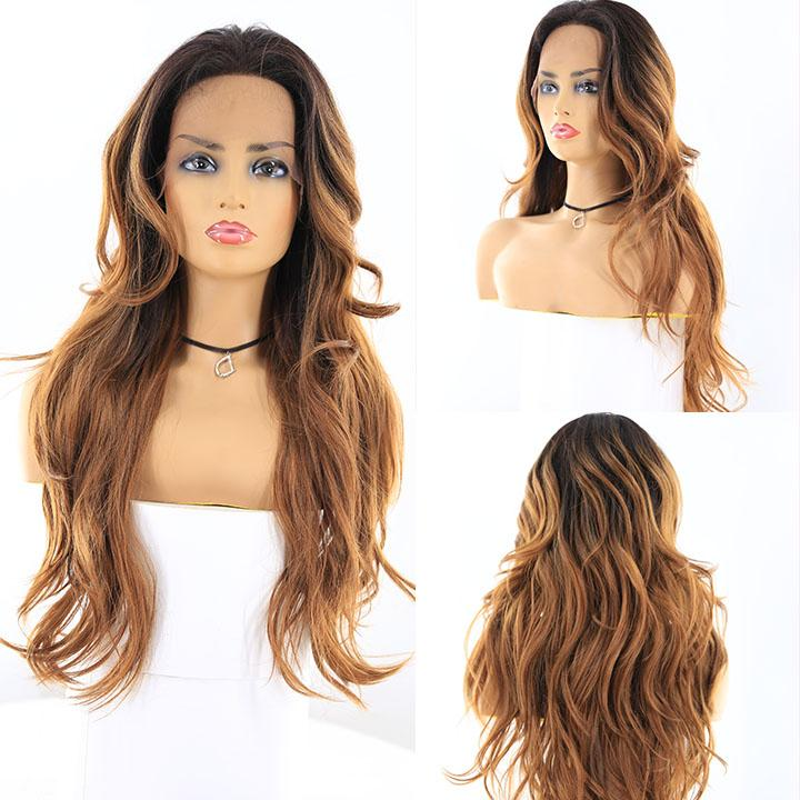 "HTF 4""x13""lace front RT30M body wave wig 23""-25"""