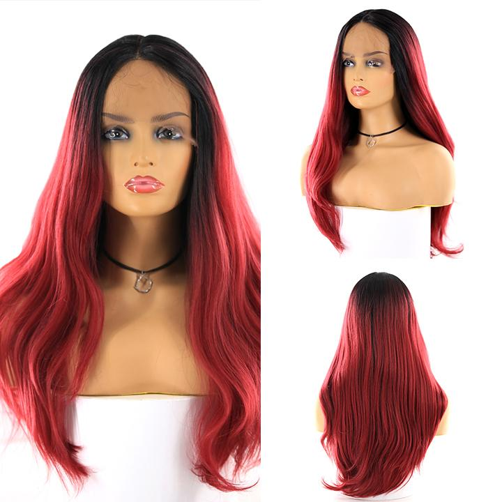 HTF cross lace(wide1.1cm+lace front1.5cm) GT1B/BG body wave wig 17""