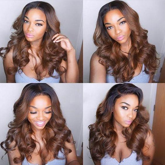 Chestnut Brown Color 180% Density 13x4 Frontal Lace Wig