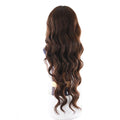 "HTF Middle part4""x1cm,1cmx13"" ear to ear 4# body wave wig 23"""