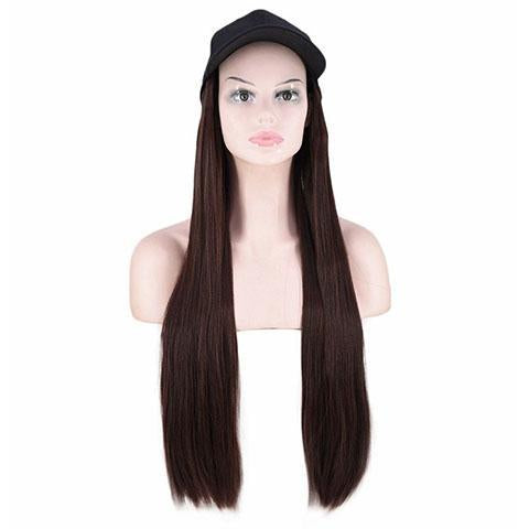 Light brown straight cap wig