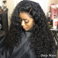 Pre Bleached Knots Best Virgin Human Hair Full Lace Wig——Deep Wave/Body Wave/Water Wave/Straight