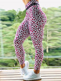 High Waist Push Up Heart Printed Leggings