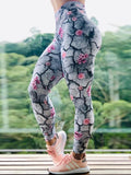 High Waist Push Up Flower Printed Leggings