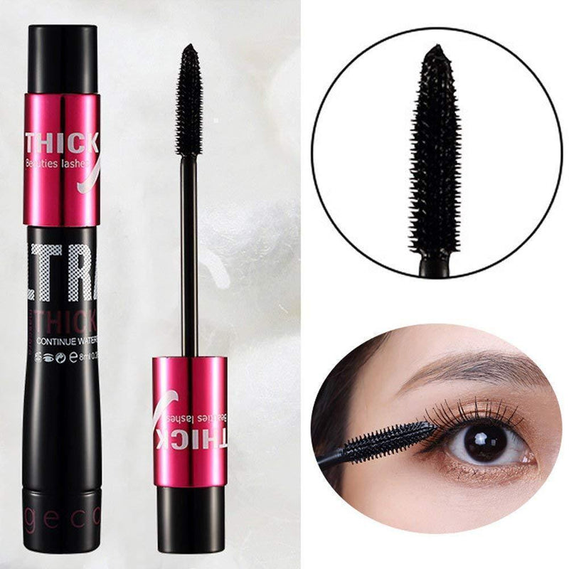 4D Silk Fiber Mascara Cream Makeup Eye Lashes Extension