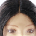 "HTF Middle part4""x1cm,1cmx13"" ear to ear 1B# body wave wig 23"""
