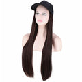Dark brown straight cap wig