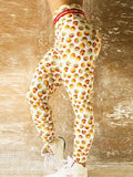High Waist Push Up Smiley Face Printed Leggings