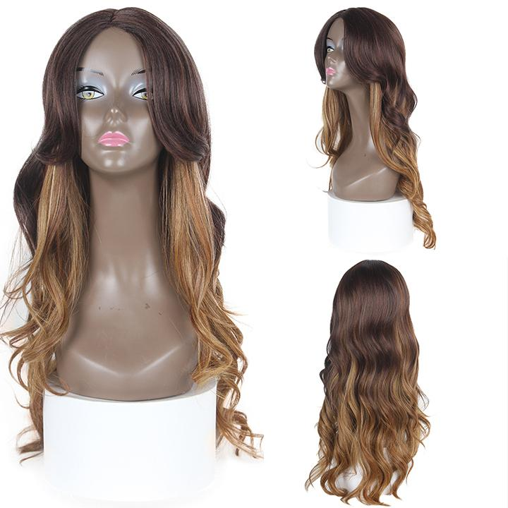 HTF invisible skin+Lace DXR1233 body wave wig 25〃