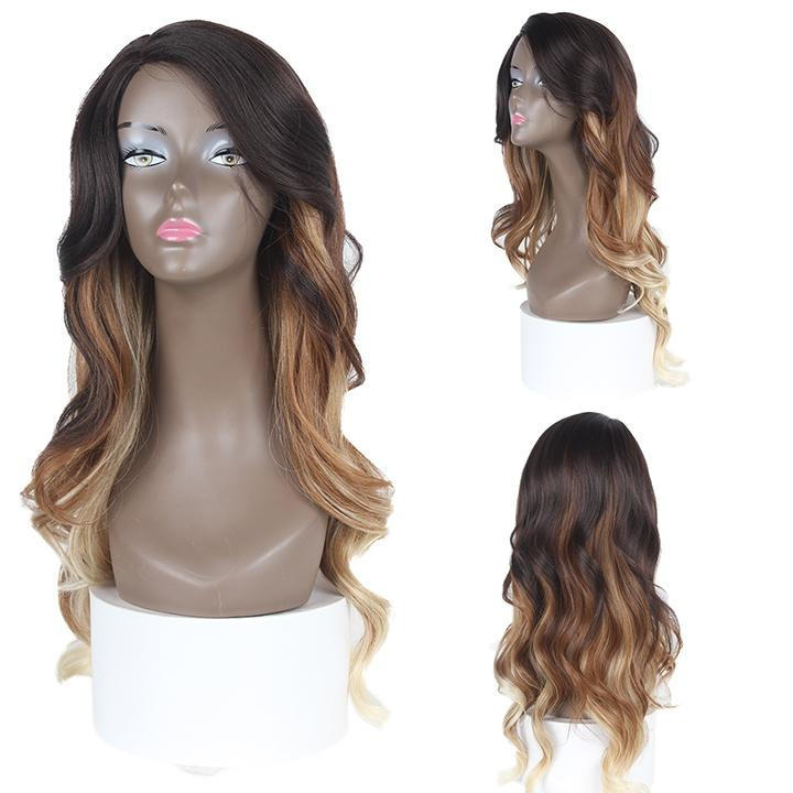 HTF invisible skin+Lace DXR1376 body wave wig 25〃