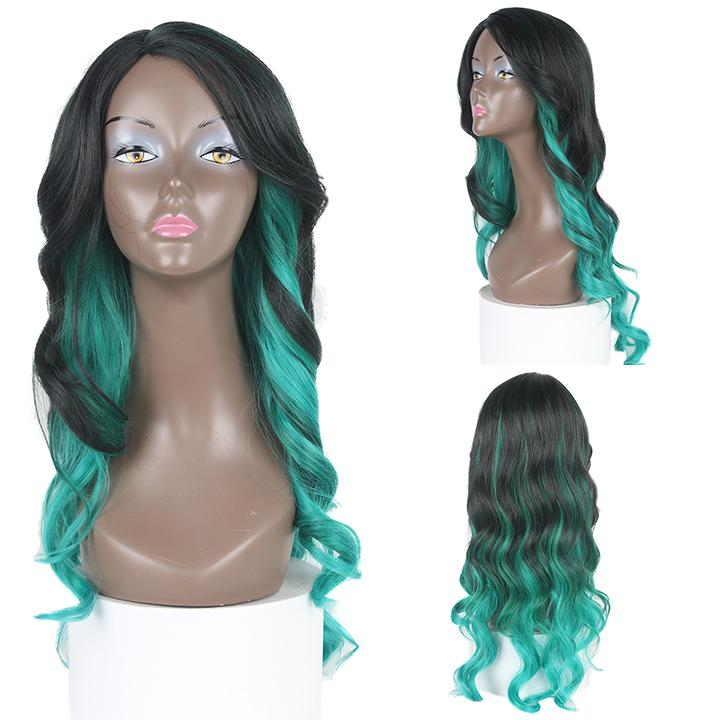 HTF invisible skin+Lace DXRGREEN body wave wig 25〃