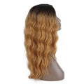 HTF Lpart+lace front GT4/GOLD water wave wig 20〃