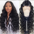 Black long wavy wig—140%(Extra Thick As In Video)