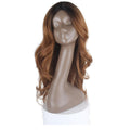 HTF invisible skin+Lace DR27 body wave wig 25〃