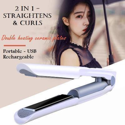 2 IN 1 WIRELESS HAIR CURLER AND STRAIGHTENER