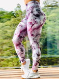 High Waist Push Up Abstract Printed Leggings
