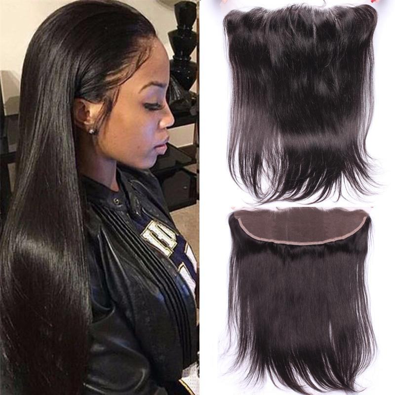 1Pc Straight Pre Plucked Lace Frontal