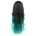 HTF invisible skin+Lace DXRRGREEN body wave wig 26〃