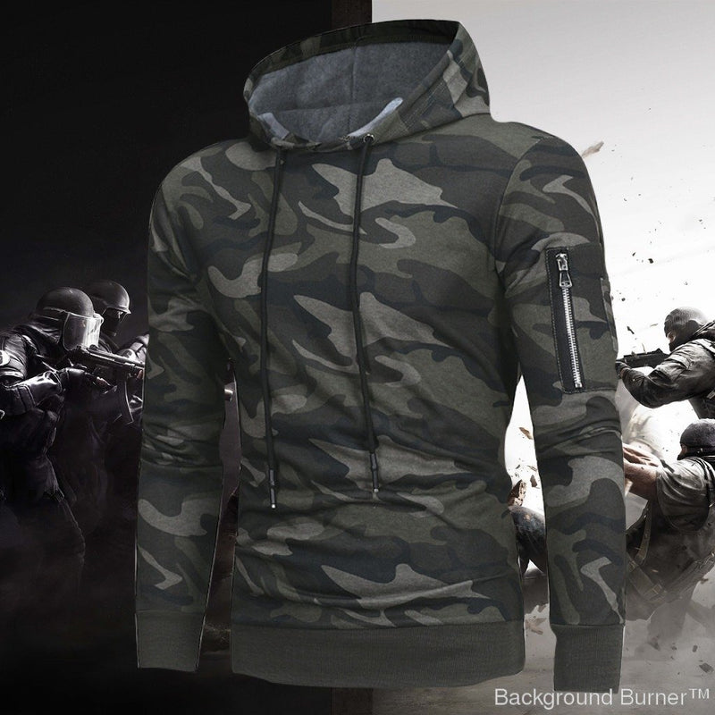 Delta 433 -Tactical Side Pocket Camouflage Hoodie