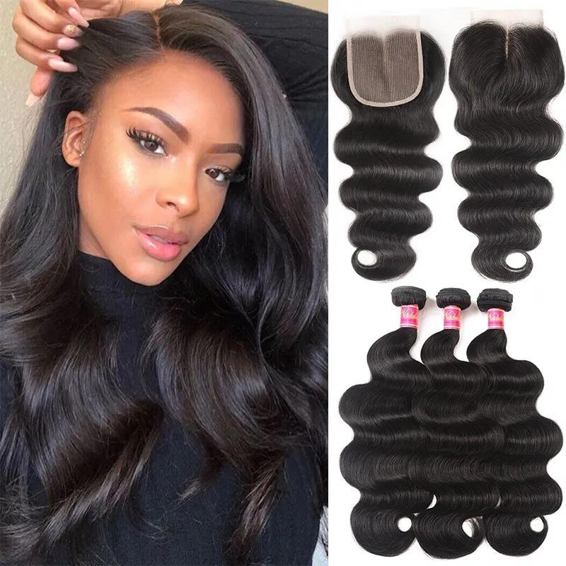 3Bundles With Lace Closure Best Virgin Hair——( Body Wave / Straight / Big Curl / Deep Wave)