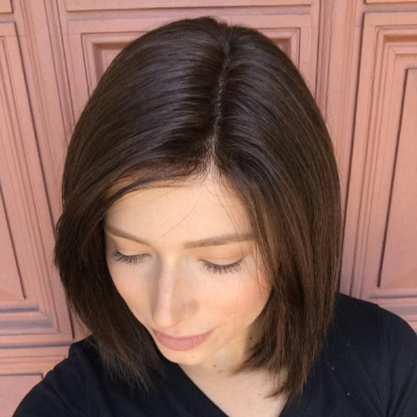 Brown short bob wig—140%(EXTRA THICK AS IN VIDEO)