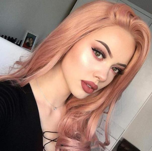 Pink Long Wave Wig