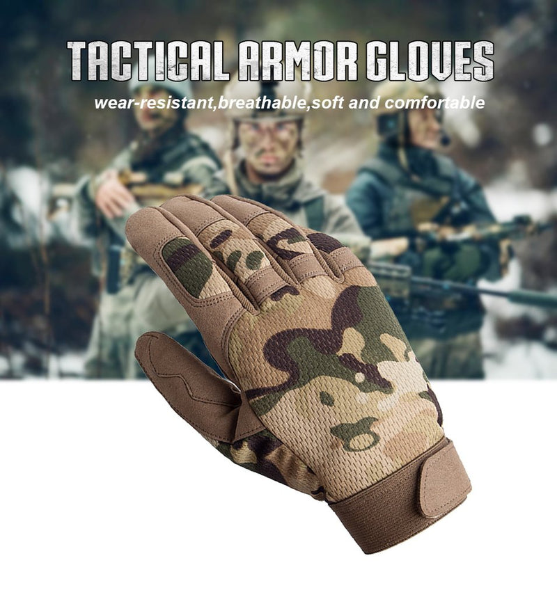 Premium Breathable Tactical Full Finger Gloves