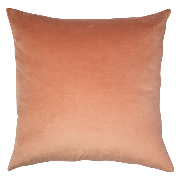 Double Sided Velvet Cushion - Coral & Champagne Pink