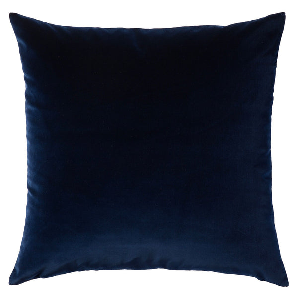 Double Sided Velvet Cushion - Navy & Grey
