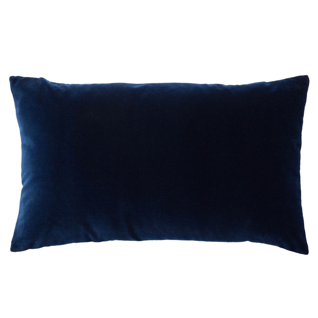 Double Sided Velvet Rectangular Cushion - Navy & Grey