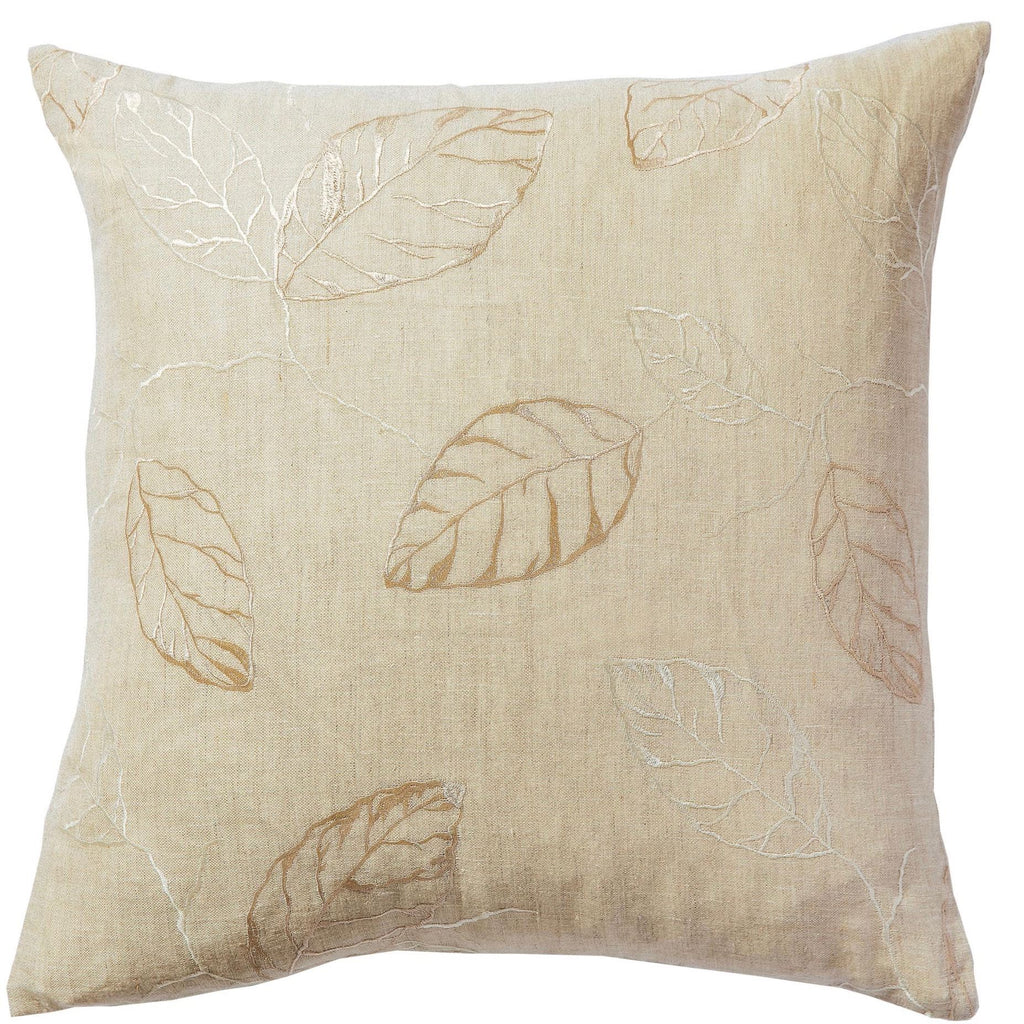 Embroidered Floating Leaf Cushion