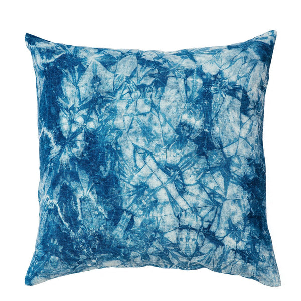 Ice Dyed Shibori Cushion