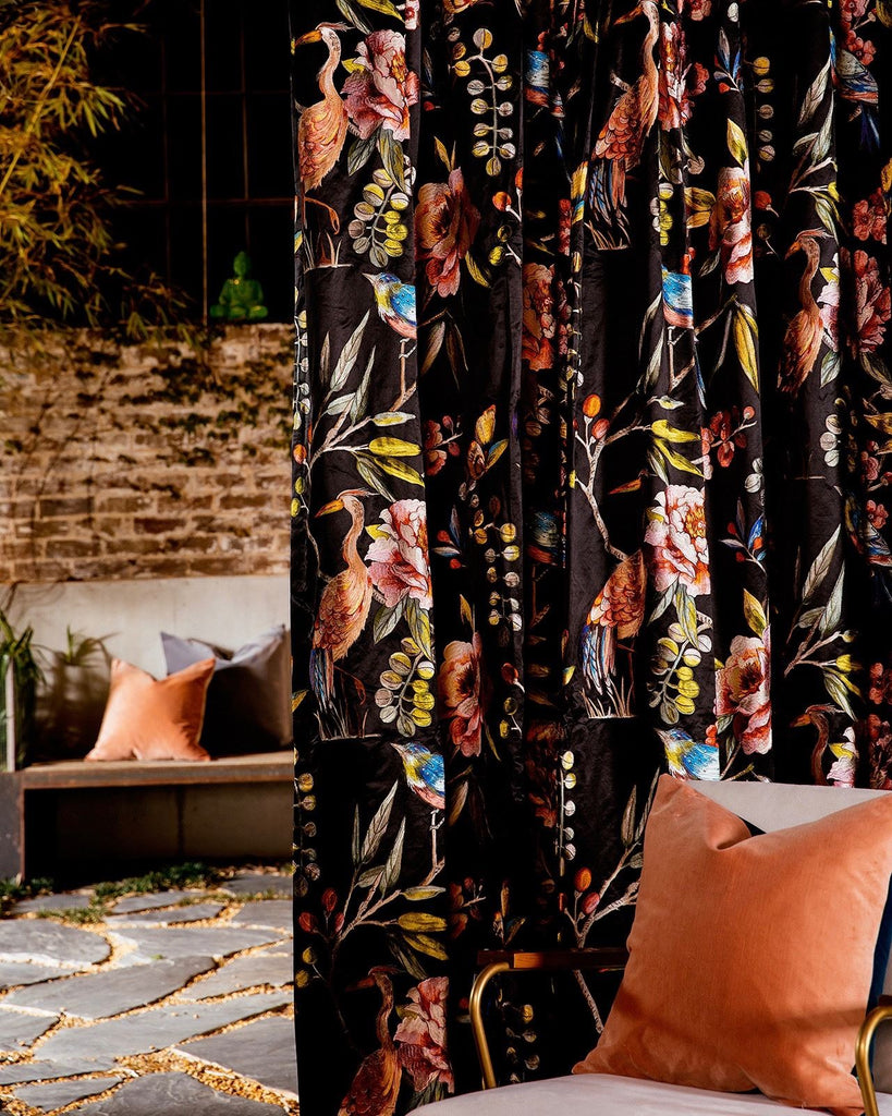 Elton Embroidered Blockout Curtain