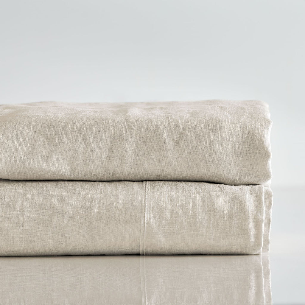 Pure Linen Pre Washed Sheet Set – Sand