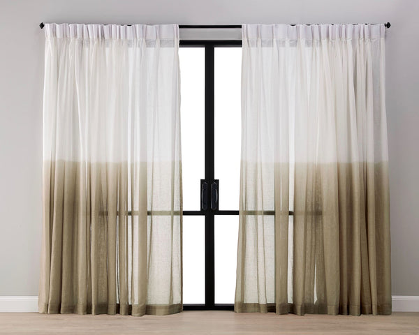 Dip Dyed Sheer Curtain - Caramel