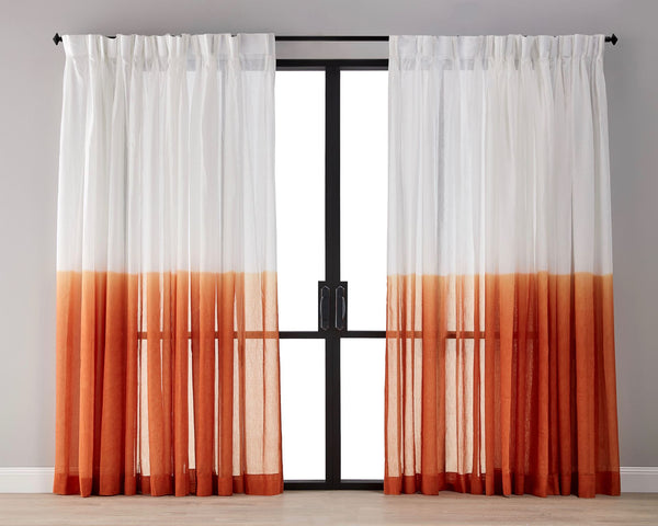 Dip Dyed Sheer Curtain - Sunset
