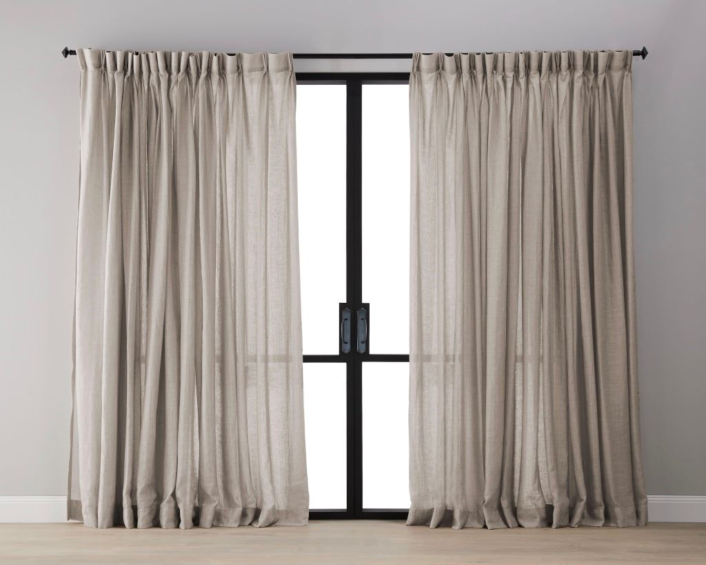 Textured Linen Sheer Curtain - Cashmere