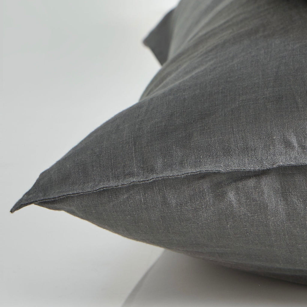 Pure linen European Pillow Case - Smoke